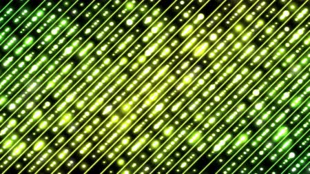 Colorful Diagonal Beams Pattern and Light Animation - Loop Yellow Green Stock mozgókép