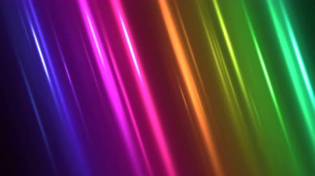 Colorful Diagonal Light Rays Background Animation - Loop Rainbow