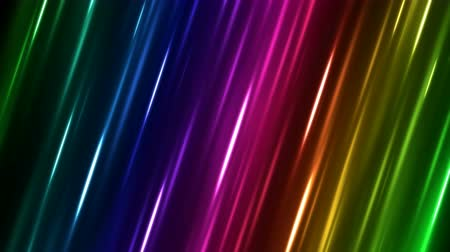 Colorful Diagonal Moving Light Rays Background Animation - Loop Rainbow