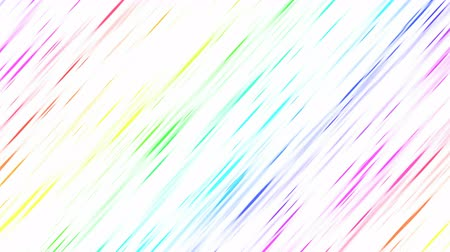 Colorful Diagonal Strokes Background Animation - Loop Rainbow