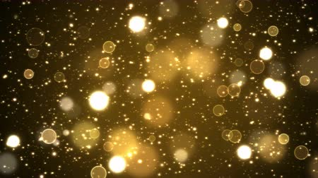 endless gold : Colorful Animated Shining Particle Background - Loop Golden
