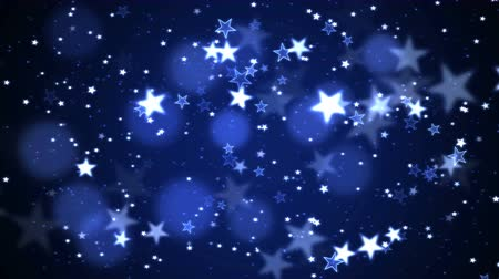 Colorful Animated Shining Stars Particle Background - Loop Blue Stock mozgókép