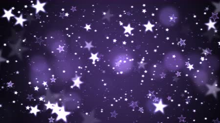 Colorful Animated Shining Stars Particle Background - Loop Violet
