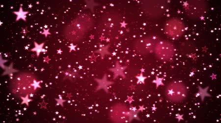 Colorful Animated Shining Stars Particle Background - Loop Red