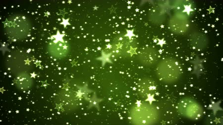 Colorful Animated Shining Stars Particle Background - Loop Green Stock mozgókép
