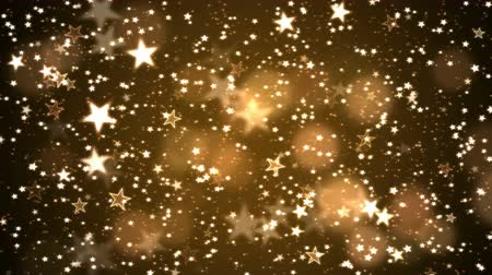 endless gold : Colorful Animated Shining Stars Particle Background - Loop Golden Stock Footage