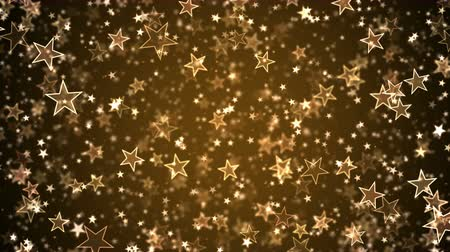 endless gold : Colorful Animated Falling Shining Stars Particle Background - Loop Golden Stock Footage