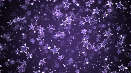 movimentar se : Colorful Animated Falling Shining Stars Particle Background - Loop Violet
