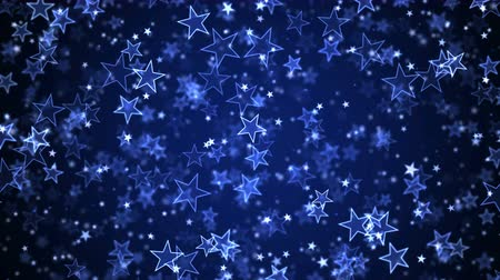 Colorful Animated Falling Shining Stars Particle Background - Loop Blue