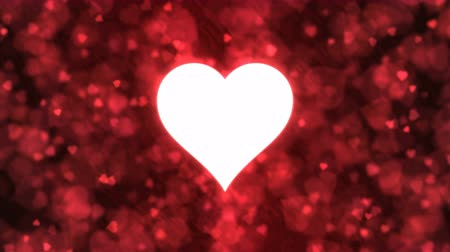 skarlátvörös : Pulsing Heart Shape and Background Animation - Loop Red