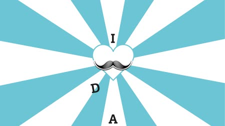 mustache : I love my dad message with mustache Stock Footage