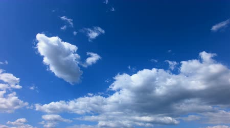stratosfer : beautiful nature Time lapse of blue sky with clouds moving in the day Stok Video