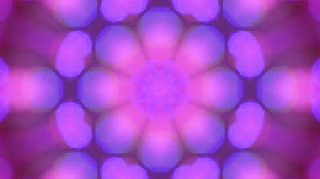 абстрактный фон : Kaleydoscope Flower Abstract Background Стоковые видеозаписи