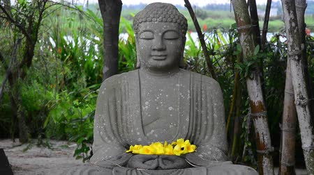 budist : Stone statue of Buddha in the garden