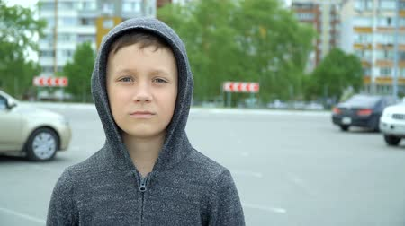 Portrait of an 8-year-old boy,full hd video