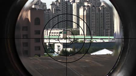 sniper scope : sniper Stock Footage