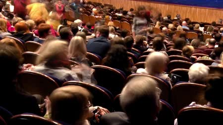 проворный : Spectators in the auditorium and watch the show. Time-lapse recording. Theater of the young spectator. Saratov, Russia, 17 February 2017