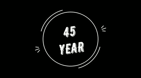 Video greeting with 45 year. Made in retro style. Can be used to congratulate people, animals, companies and significant dates.