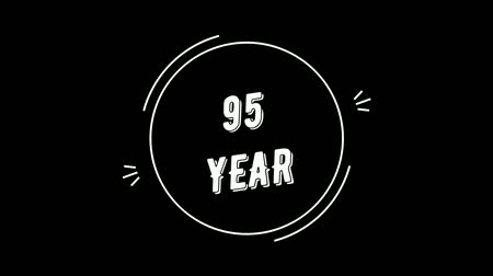 Video greeting with 95 year. Made in retro style. Can be used to congratulate people, animals, companies and significant dates.
