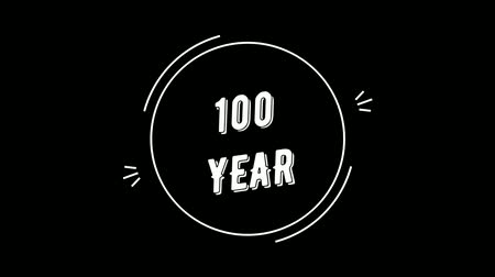 Video greeting with 100 year. Made in retro style. Can be used to congratulate people, animals, companies and significant dates.