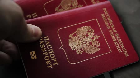 civilní : Hands on the passport of the Russian Federation