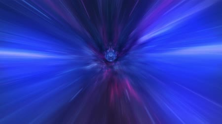 helezon : Wormhole straight through time and space, and millions of stars. Abstract sci-fi space wormhole tunnel time travel. Loopable Stok Video