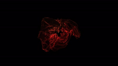 distorção : Red Abstract Source of Energy. Dark Background Stock Footage