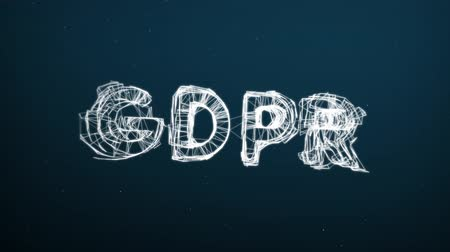 gdpr : Abstract moving connection structure background with text GDPR
