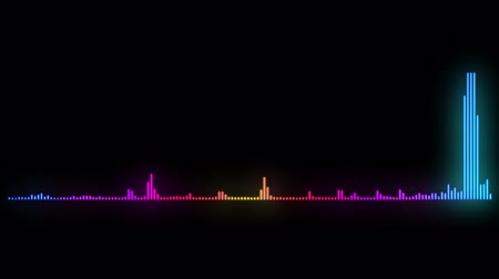 hz : Audio frequency monitor sound wave. 4K