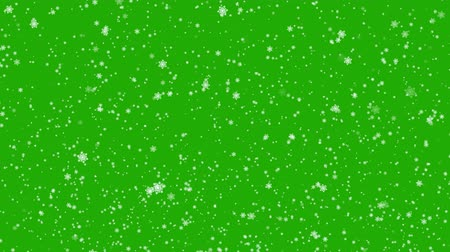snows : Falling Snowflakes - Chroma key - Green Screen, 4k