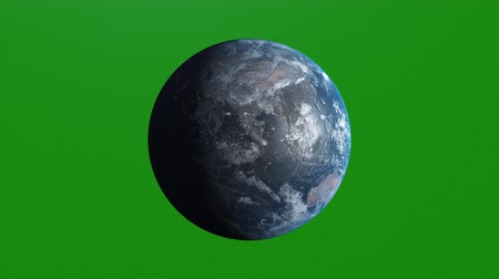kendi : Ultra Realistic Earth Rotating, 4K. Perfect for your own background using green screen. High resolution texture