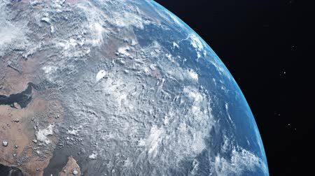 orbital : Amazing View Of Planet Earth From Space. Realistic 3d Animation. 4K