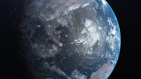 gaivota : Earth Zoom Out. Amazing View Of Planet Earth From Space. Realistic 3d Animation. 4K