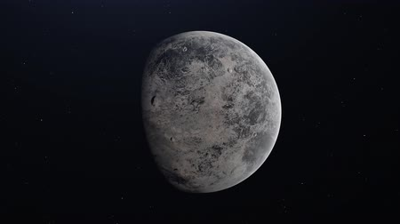 törpe : Ceres dwarf planet rotating in its own orbit in the outer space. 4K