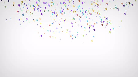atributo : Confetti Party Popper Explosions on a White Background. 3d animation, 4K