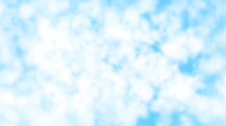aeroespaço : Cloud fly through 3D render. Flying through white clouds. Blue sky, 4K