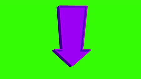 categoria : Animated purple arrow pointing down on a green screen. Looped