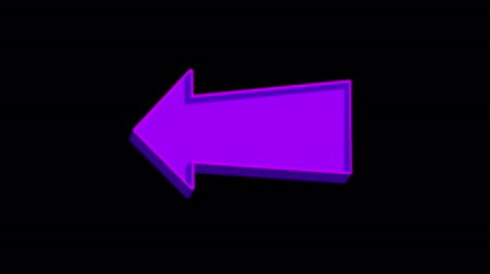 categoria : Animated purple arrow pointing left on a black background. Looped