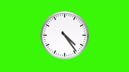 часов : Clock minute and hour hands moving fast. Time lapse zoom in Стоковые видеозаписи