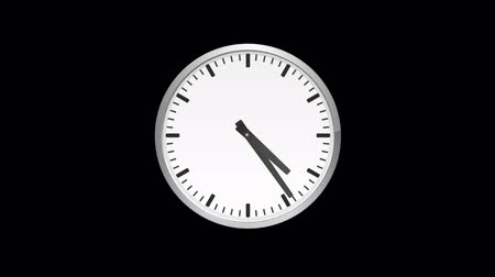 pm : Clock minute and hour hands moving fast. Time lapse zoom in Stock Footage