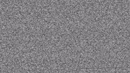 iletmek : TV noise abstract backgrounds. Weak TV signal. Bad reception Stok Video