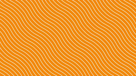 catalog : White curved lines in dynamic wave motion, orange background. Future geometric diagonal lines patterns motion background. 4k