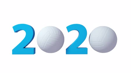 バレーボール : Volleyball 2020 design background on a White Background