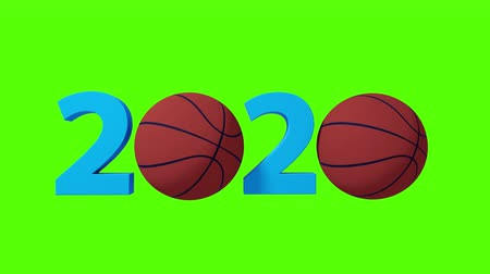 infinito : Basketball 2020 design background on a Green Screen. 4K Stock Footage