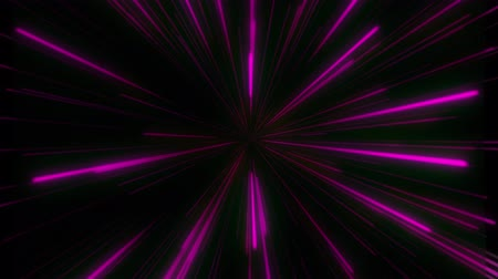 Abstract retro of warp or hyperspace motion in colorful star. Infinited Looped 3d Animation of Glowing Lines Стоковые видеозаписи