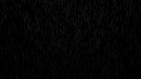 dizgi : 4K Strong Falling rain over black background. Alpha matte Stok Video