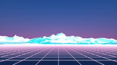 1980s background animation. Inspired by synthwave and new retro wave music and art