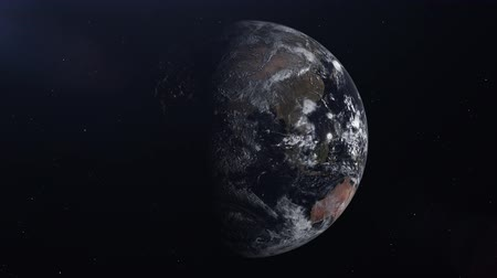 continentes : Realistic animation of the planet Earth in the space