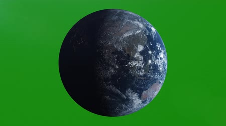 américa do norte : Realistic Earth Rotating, 4K. Perfect for your own background using green screen. High detailed texture Stock Footage