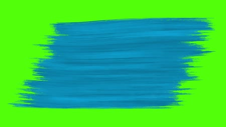 граффити : Abstract blue painted brush stroke transition background, animation of paint splash. Perfect for your own background using green screen